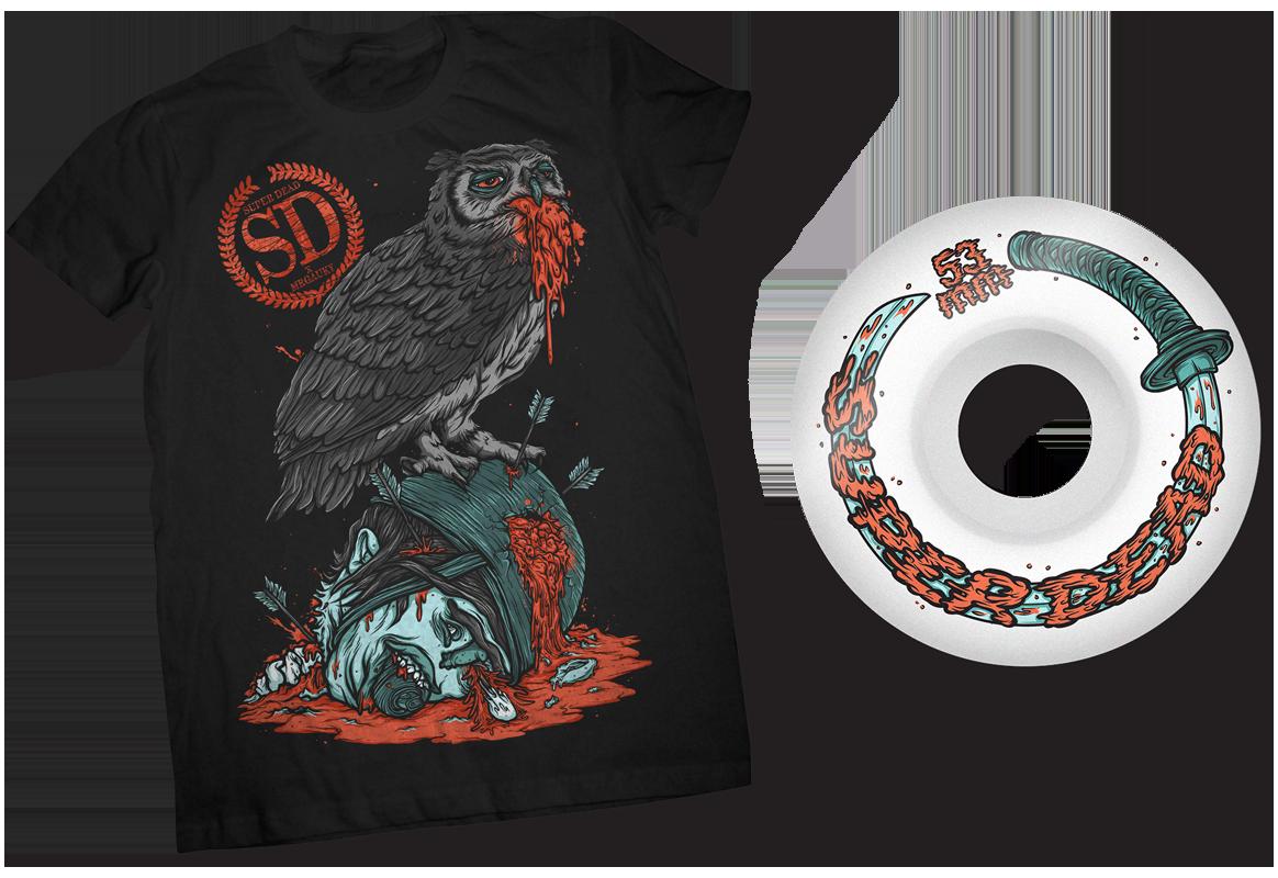 Regurgitate T-shirt - Sword Bender Wheel